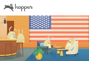 Airfare forecast app Hopper expands into lodging sector with immersive UX