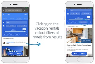 Google testing vacation rentals callout on Hotel Ads